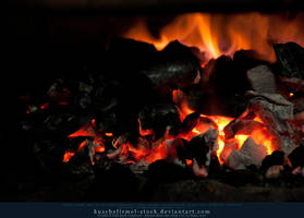 Burning Coal 04 by kuschelirmel-stock