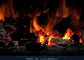 Burning Coal 03 by kuschelirmel-stock