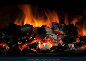 Burning Coal 01 by kuschelirmel-stock