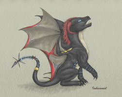 Baby Black Widow (Natasha Romanov) Dragon by Imbecamiel