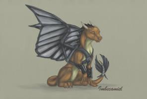 Baby Falcon (Sam Wilson) Dragon by Imbecamiel