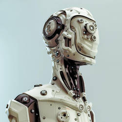 Futuristic robotic man by Ociacia