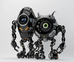 Robotic friends from another planet by Ociacia