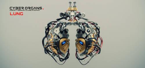 Artificial robotic internal organ - steel lungs wi by Ociacia