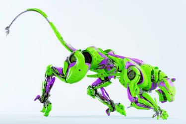 Toxic panther robot by Ociacia