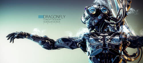Robot dragonfly by Ociacia