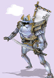 Samurai Robot by stinkypete