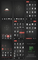 Android Black v2 Go Launcher EX Theme by gseth