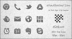 eHandSketched Icons for Android by gseth