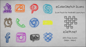 eColorSketch Icon Pack by gseth