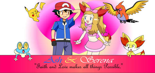 Ash and Serena (Amourshipping) #2 by PhoenyxuzPrimax