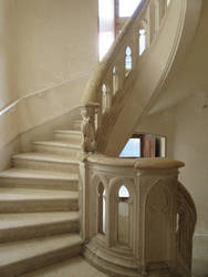 Renaissance staircase stock by LittleOph