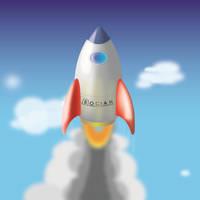 Space rocket by Bocian3000
