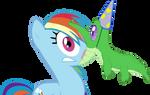 Rainbow Dash and Gummy by Bocian3000