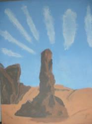 Desert Pillar by Dr-Cryllius