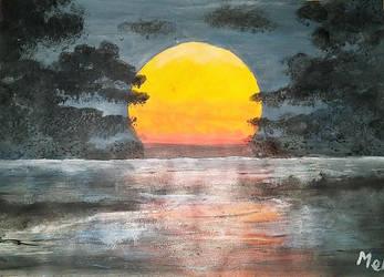Sunset edited by rainbow-falls
