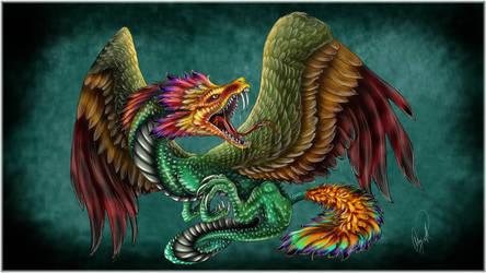 Quetzalcoatl Dragon by dizturbed