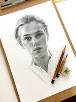 Pencil portrait by EnyaMahuta