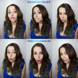 Facial Expressions Stock 1 by charligal-stock