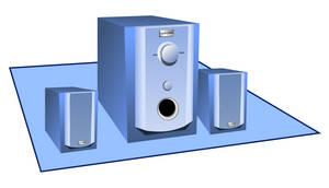 Speaker set with a sub-woofer by rockraikar