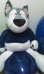 SS-Husky Balloon sit by hirohusky