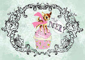 deer cake by tabithaemma