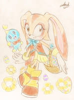 Easter - Cream The Rabbit by EdwardTCat