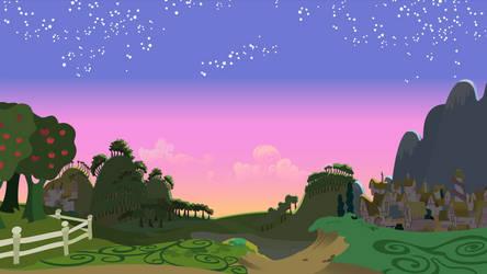 Dawn Scene - Full Frame Vector by Ironfruit