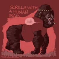 Gorilla with a Human Brain by sobreiro