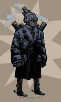 Steam Man of the Prairies by sobreiro