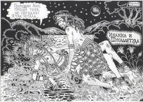 Inanna and Shukalletuda by talfar