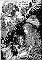 Nanna, Enheduanna, Inanna and Sargon by talfar