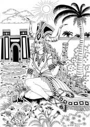 Ishtar - Goddess of Babylon by talfar
