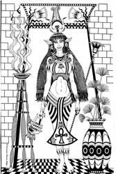 GODS OF EGYPT: GODDESS HATHOR by talfar
