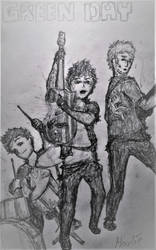 Green Day Members by JohnnyHoodie