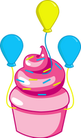 Pinkie Pie Cupcake by ShadowFoxGraphics
