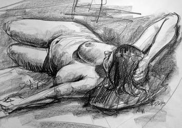 Anna - life drawing by deafmusic