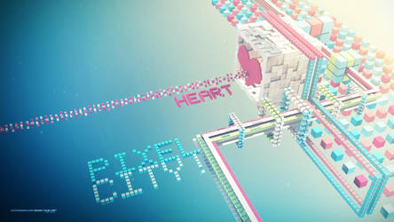 The Pixel City by Lacza