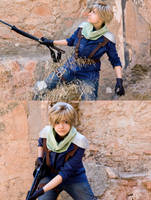 Cloud Strife. On a mission by KyongF