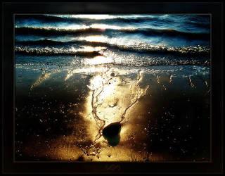 Broken Beach at Sunset II by mental