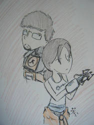gordon and chell by TiMeLoRd903