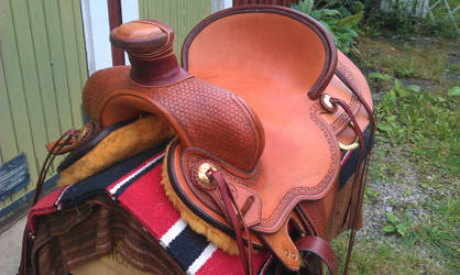 Ranchsaddle 2.0 front-view by Kristiantyrann