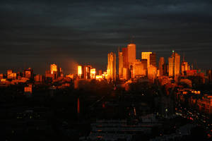 Last light over Toronto by Cydel