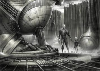 Space Jockey by CHERDAK