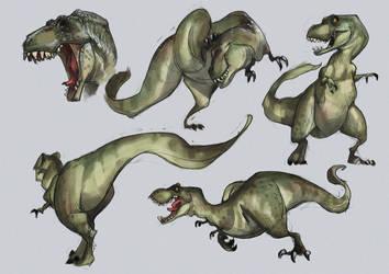 T-Rex by CHERDAK