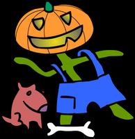 Toto and Jack Pumpkinhead by dhorlick