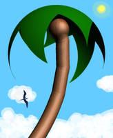 Island Palm Tree by dhorlick