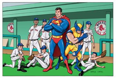 superman and the redsox by stevesafir