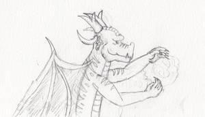 Dragon Sketch 2 by AdamCuerden