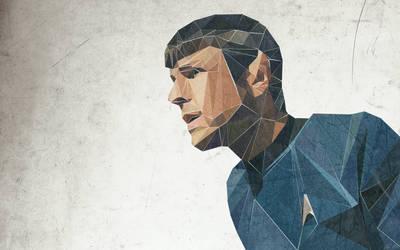 Triangular Spock Wallpaper by MrsSpock